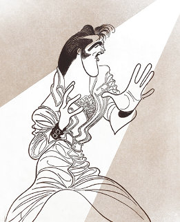Untitled Lithograph (Elvis Presley) Limited Edition Print - Al Hirschfeld