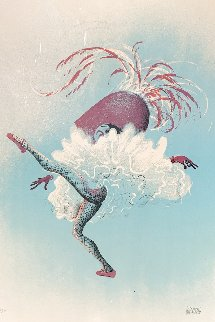 Can Can Dancer 1972 Limited Edition Print - Al Hirschfeld