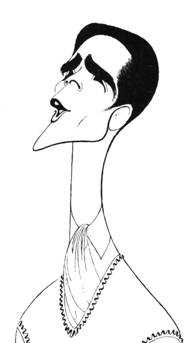 Howard McGillen As Billy Crocker in Anything Goes Drawing 1988 28x21 Drawing by Al Hirschfeld