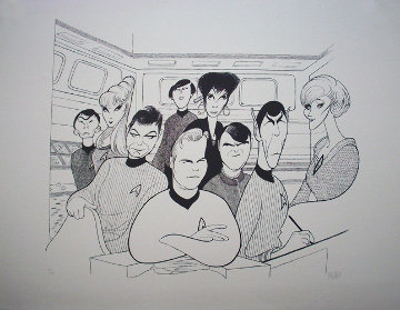 Star Trek (Original Cast) PP Limited Edition Print - Al Hirschfeld