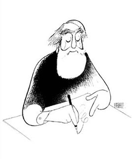 Self Portrait At 99 Limited Edition Print by Al Hirschfeld