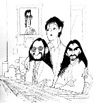 Beatles 2000 - Beatles Recording Studio Limited Edition Print - Al Hirschfeld