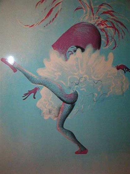 Untitled - Dancer Limited Edition Print by Al Hirschfeld
