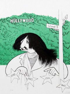 Ringo Starr Visits Hollywood PP Limited Edition Print by Al Hirschfeld