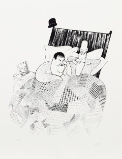 Laurel And Hardy (Sweet Dreams) From the March of the Wooden Soldiers Limited Edition Print by Al Hirschfeld