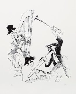 Marx Brothers Musicale 2001 Limited Edition Print by Al Hirschfeld