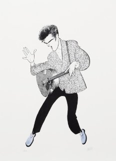 Elvis Presley, Blue Suede Shoes Limited Edition Print - Al Hirschfeld