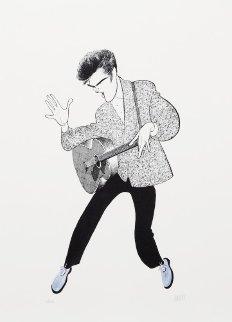 Elvis Presley, Blue Suede Shoes Limited Edition Print by Al Hirschfeld
