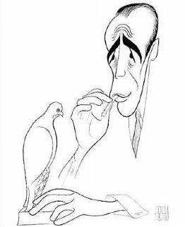Maltese Falcon (Bogart) Limited Edition Print - Al Hirschfeld