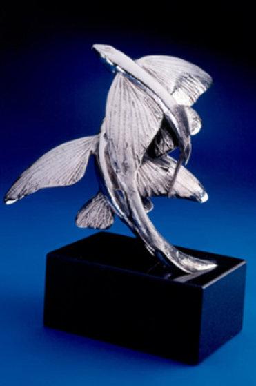 Flying Fish Stainless Steel Sculpture 1996 Sculpture by Tony Hochstetler