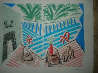 Moderne Museum of Art, Santa Ana Poster 1989 Limited Edition Print by David Hockney - 1