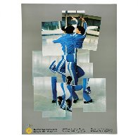 Skater, XIV Olympic Winter Games, Sarajevo Poster 1984 Limited Edition Print by David Hockney - 1