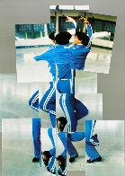 Skater, XIV Olympic Winter Games, Sarajevo Poster 1984 Limited Edition Print by David Hockney - 0