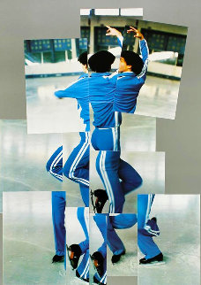Skater, XIV Olympic Winter Games, Sarajevo Poster 1984 Limited Edition Print by David Hockney