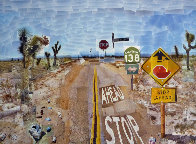 Pearblossom Hwy, 11-18th, April 1986, #2  2012 Poster HS Limited Edition Print by David Hockney - 2