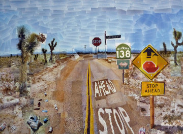 Pearblossom Hwy., 11 - 18th April 1986, #2  Hand Signed Poster  Limited Edition Print by David Hockney