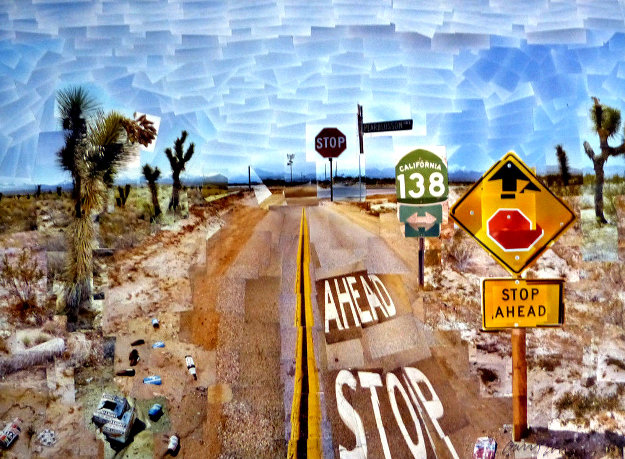 Pearblossom Hwy, 11-18th, April 1986, #2  2012 Poster HS Limited Edition Print by David Hockney