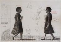 Student: Homage to Michelangelo 1975 Limited Edition Print by David Hockney - 0