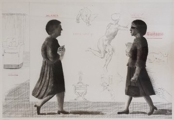 Student: Homage to Michelangelo 1975 Limited Edition Print by David Hockney