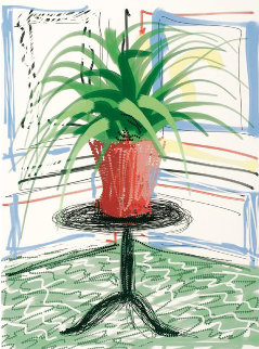 A Bigger Book, Art Edition C, with Flowers print, 2017 Limited Edition Print - David Hockney