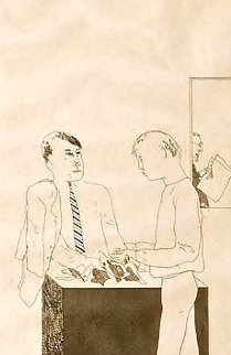He Enquired After the Quality From Fourteen Poems From C.P. Cavafy 1966 Limited Edition Print by David Hockney