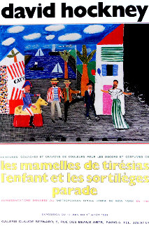 Les Mamelles De Tiresias l'enfant Et Les Sortileges Parade Poster 1981 Limited Edition Print by David Hockney