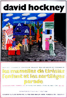 Les Mamelles De Tiresias l'enfant Et Les Sortileges Parade 1981 Limited Edition Print - David Hockney