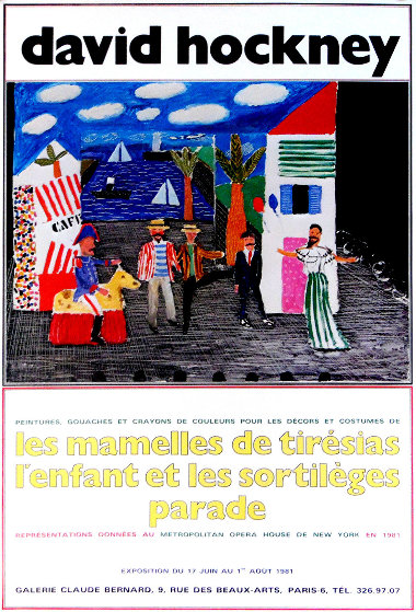 Les Mamelles De Tiresias l'enfant Et Les Sortileges Parade 1981 Limited Edition Print by David Hockney