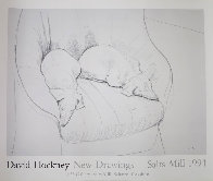 Salts Mill Stanley and Boodgie Poster 1994 Limited Edition Print by David Hockney - 1