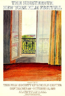 Nineteenth New York Film Festival Poster 1981 Limited Edition Print by David Hockney