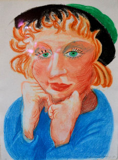 Celia With Green Hat 1984 Limited Edition Print - David Hockney