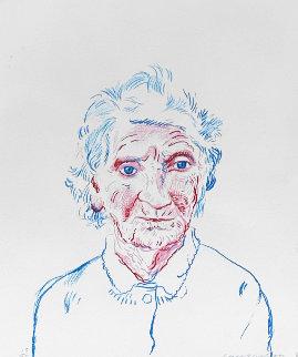 Portrait of Mother 3 1984 Limited Edition Print - David Hockney