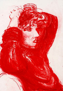 Red Celia 1984 Limited Edition Print - David Hockney
