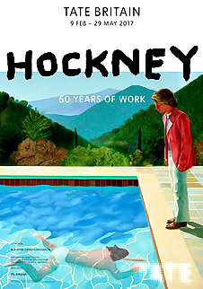 60 Years of Work - Tate Gallery Britain Poster 2017 Limited Edition Print - David Hockney