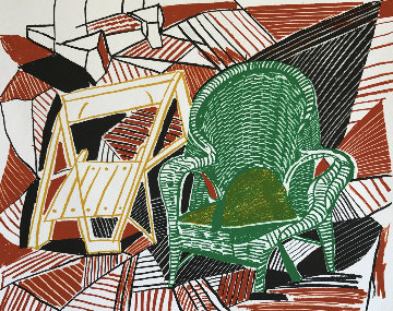 Two Pembroke Studio Chairs AP 1984 Limited Edition Print by David Hockney