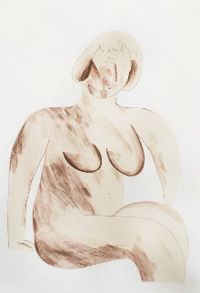 Picture of a Simple Framed Traditional Nude Drawing 1965 Limited Edition Print - David Hockney
