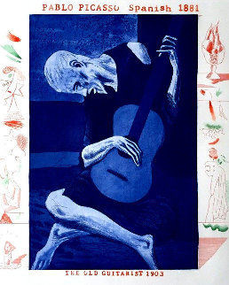 Old Guitarist 1977 Limited Edition Print - David Hockney