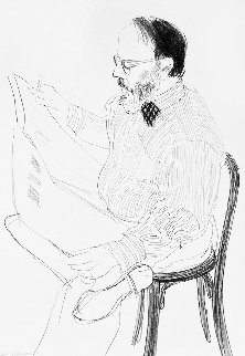 Henry Reading the Newspaper 1976 Limited Edition Print by David Hockney