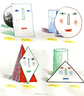 Simplified Faces State I 1973 Limited Edition Print by David Hockney