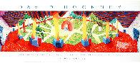 David Hockney a Retrospective Los Angeles County Museum of Art Poster 1988 Limited Edition Print by David Hockney - 1