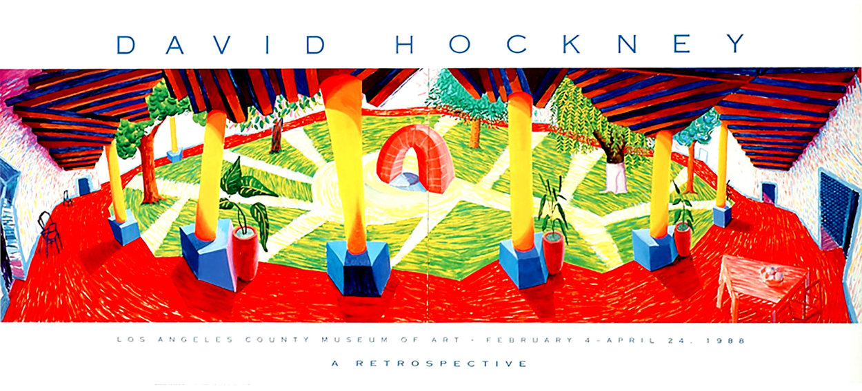 David Hockney a Retrospective Los Angeles County Museum of Art Poster 1988 Limited Edition Print by David Hockney