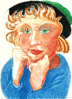 Celia With Green Hat 1984  - David Hockney