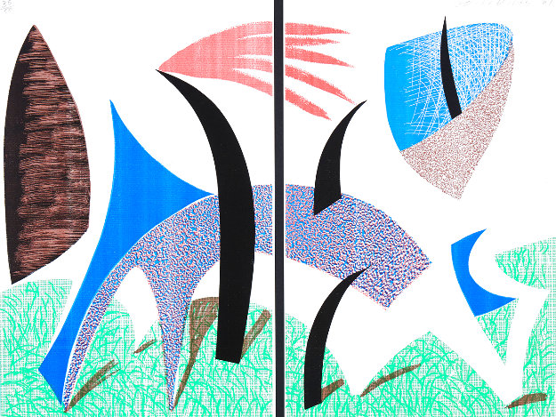 Diptychon 1989 Limited Edition Print by David Hockney
