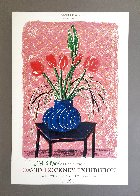 'Amaryllis in Vase' Hand Signed Exhibition Poster 1985 HS Limited Edition Print by David Hockney - 1