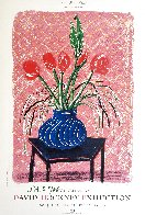 'Amaryllis in Vase' Hand Signed Exhibition Poster 1985 HS Limited Edition Print by David Hockney - 2