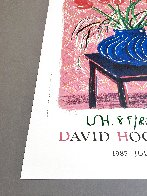 'Amaryllis in Vase' Hand Signed Exhibition Poster 1985 HS Limited Edition Print by David Hockney - 3