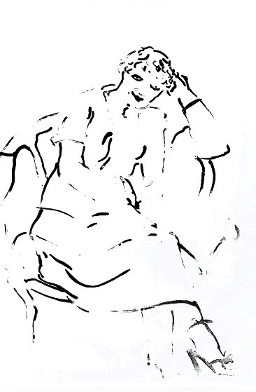 Celia Inquiring 1979 Limited Edition Print by David Hockney