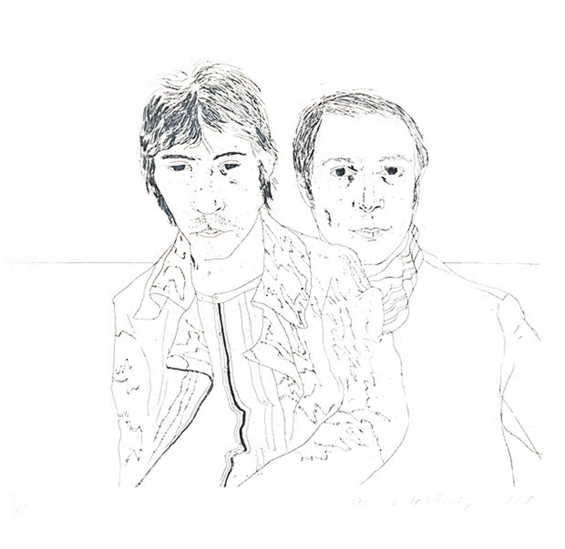 Ossie And Mo 1988 Limited Edition Print by David Hockney