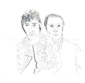 Ossie And Mo 1988 Limited Edition Print - David Hockney