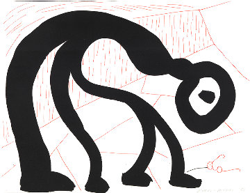 Man Looking For His Glasses HS Limited Edition Print - David Hockney